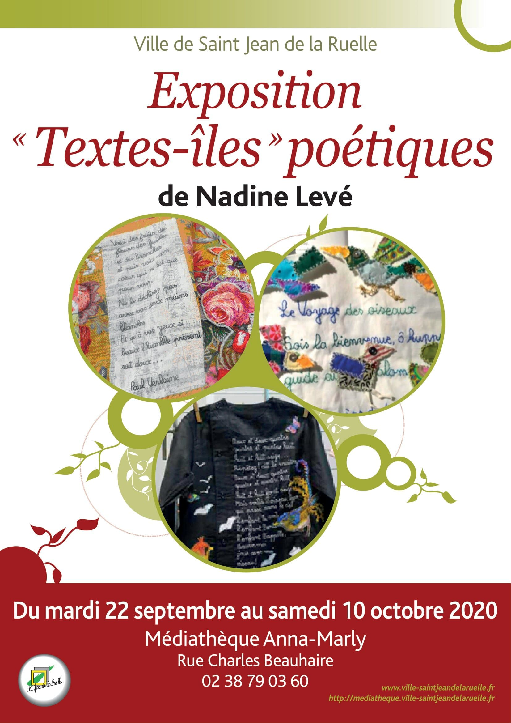 affiche tract expo nadine leve